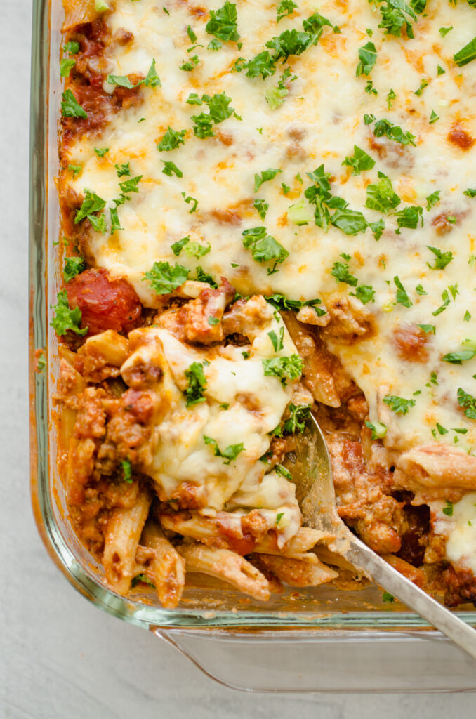 Easy big-batch meal: Baked Penne Pasta