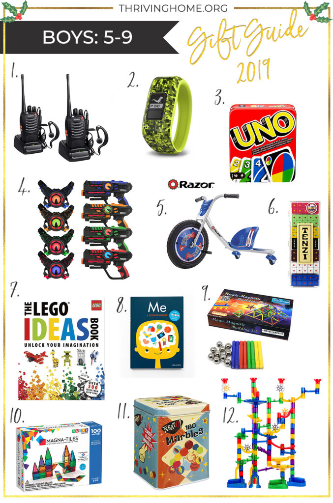 Gift guide for boys ages 5-9