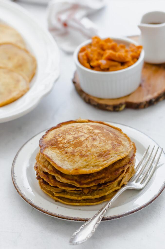 Freezable pumpkin pancakes