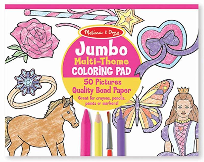 Jumbo coloring pad