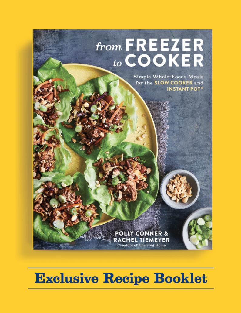 Exclusive recipe booklet