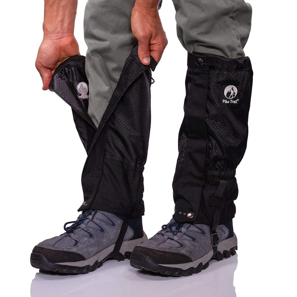 waterproof and adjustable snow boot gaiters