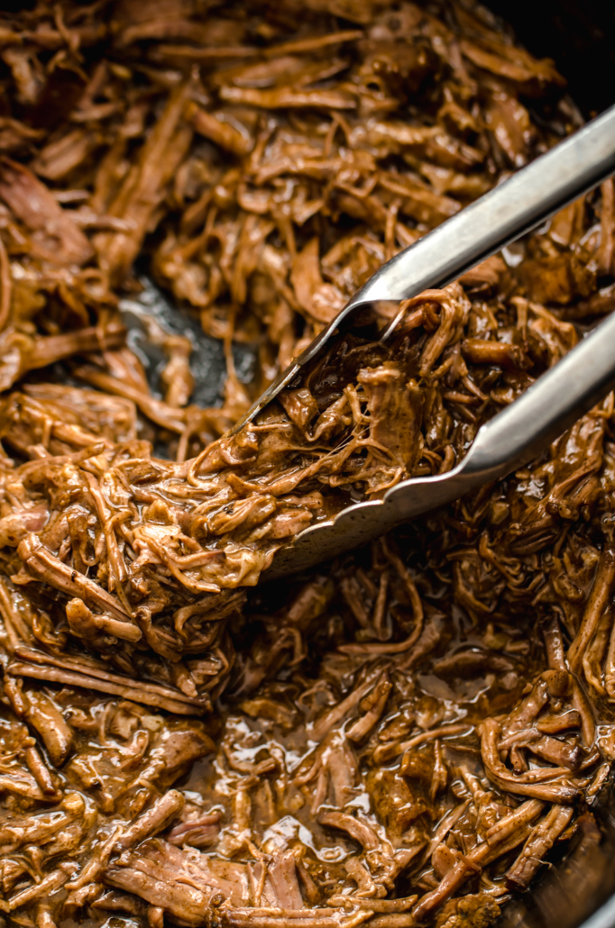 Easy meal for large groups: Balsamic Shredded Beef