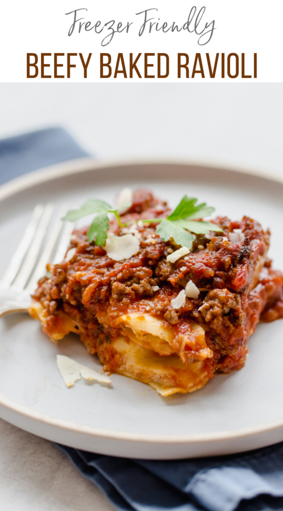 Beef baked ravioli -meal for new moms
