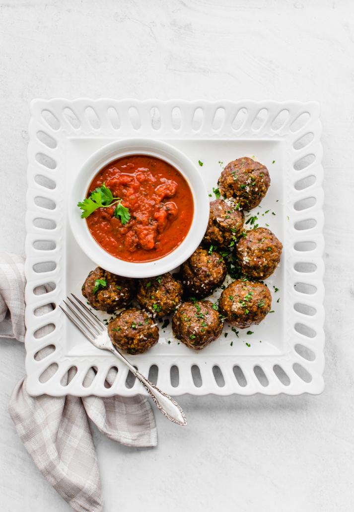 baked Italian meatballs (freezer friendly)