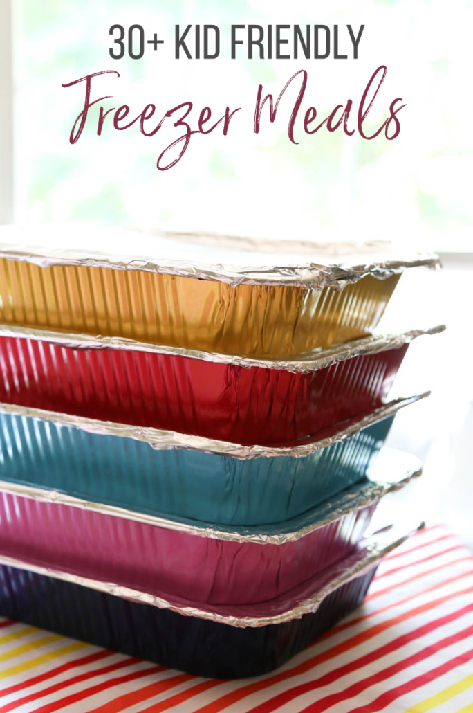 Color foil pans for kid-friendly make ahead freezer meals
