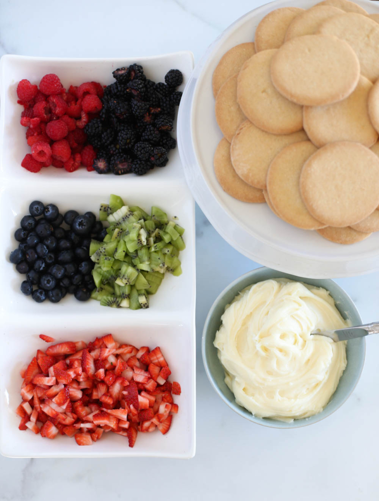 Ingredients for Fruit Pizza Cookies