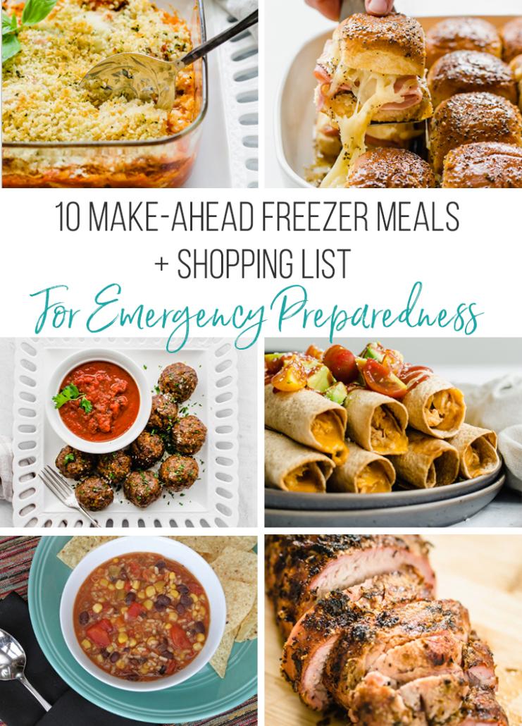 10 Make-ahead freezer meals for emergency preparedness
