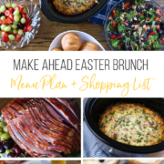 collage image of Easter Brunch recipes that you can make ahead