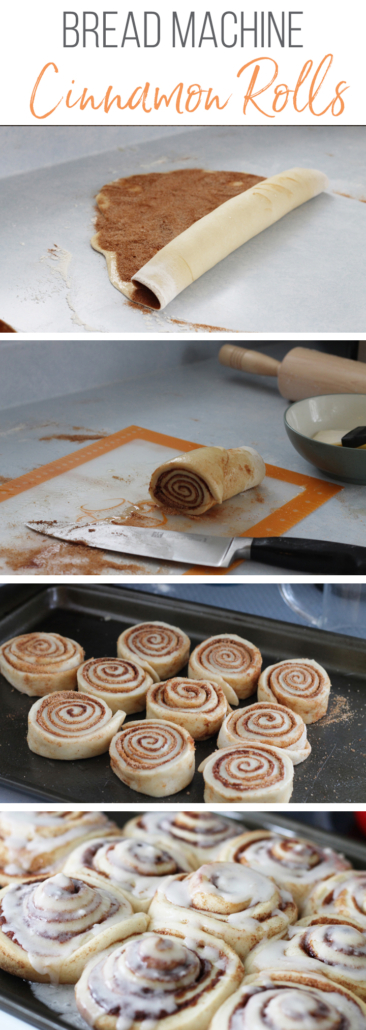 Bread machine cinnamon roll steps