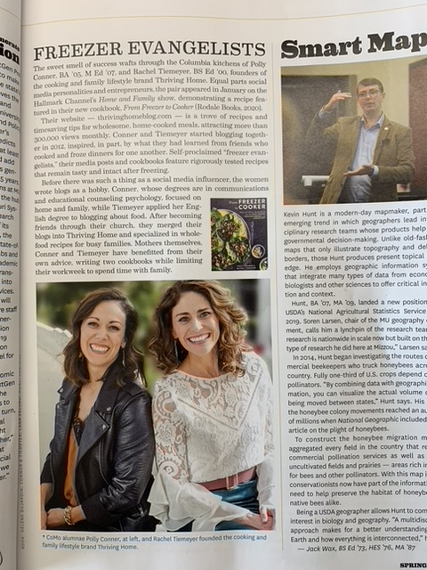 Polly Conner and Rachel Tiemeyer in Mizzou Magazine