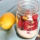 Raspberry Lemon Overnight Oats in a mason jar