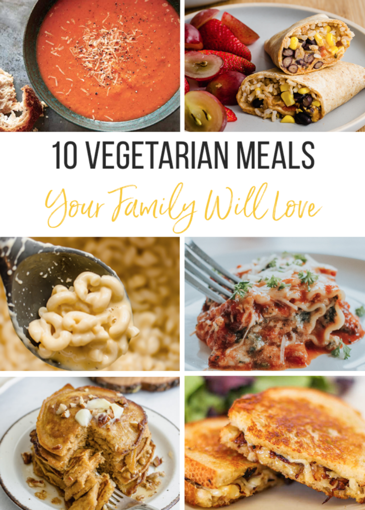 10 Vegetarian Meals collage