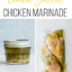 lemon garlic marinade in mason jar and in a freezer bag with chicken