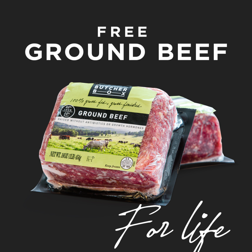 Free Ground Beef ButcherBox ad