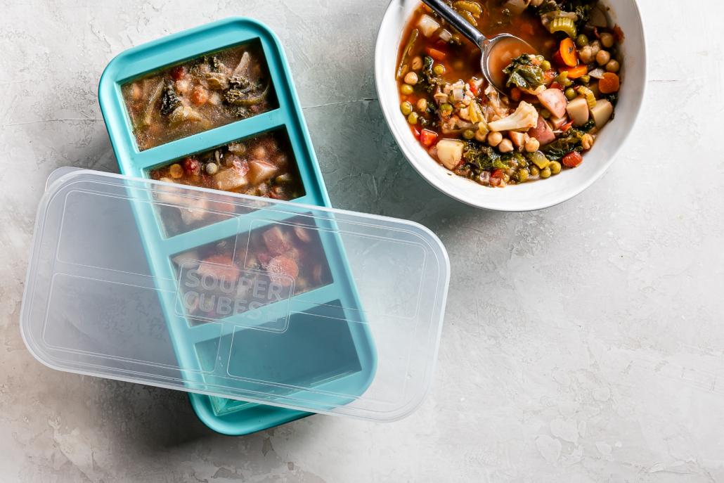 Frozen soup in Souper Cubes