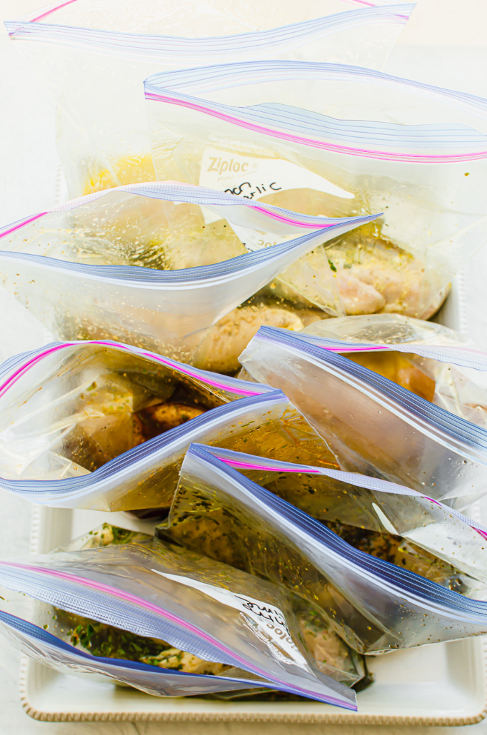 chicken marinade in freezer bags