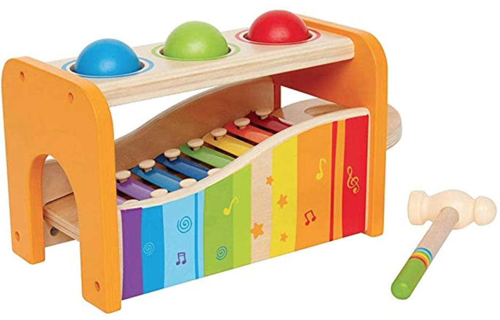 Hape Sound and Tap Bench  - gift idea for 0-2 year olds