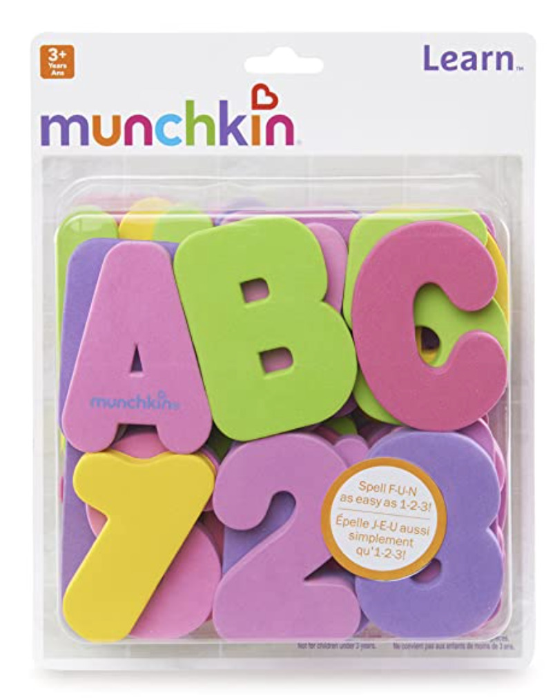 bath letters - gift idea for babies and toddlers