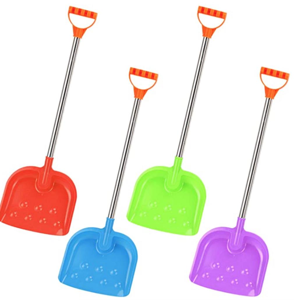 kid sized snow shovels - gift idea for preschoolers