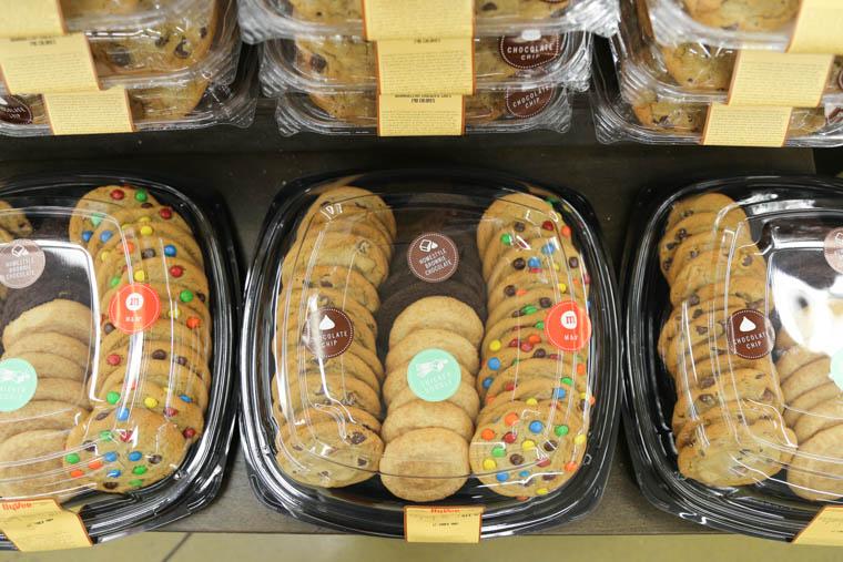 cookie trays at Hy-Vee