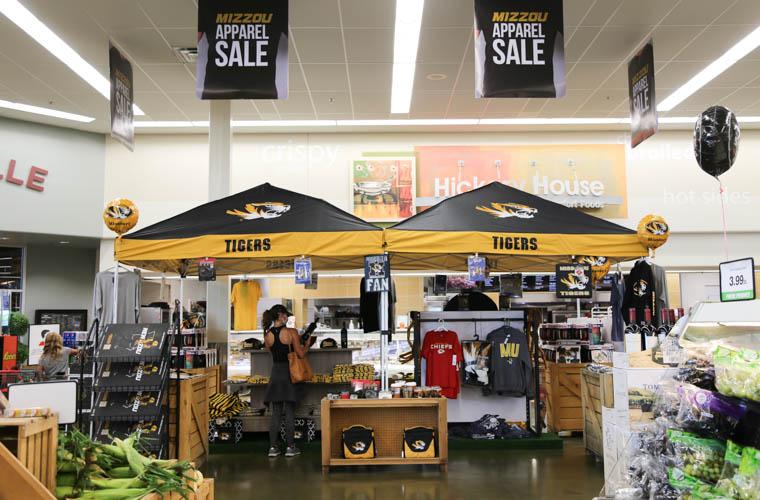Mizzou apparel store at Hy-Vee