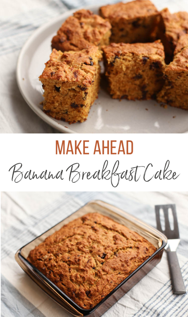 Make Ahead Banana Breakfast Cake