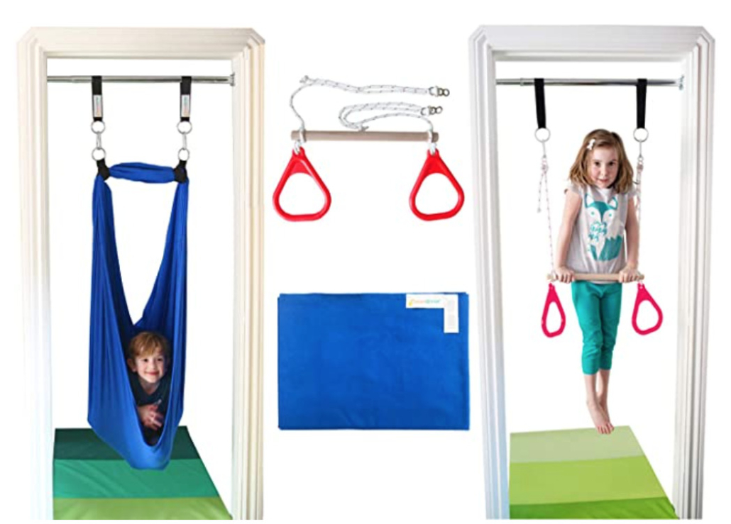 Indoor swing and trapeze