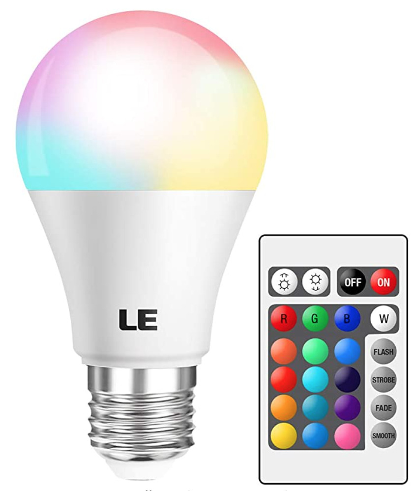 Color changing lightbulb