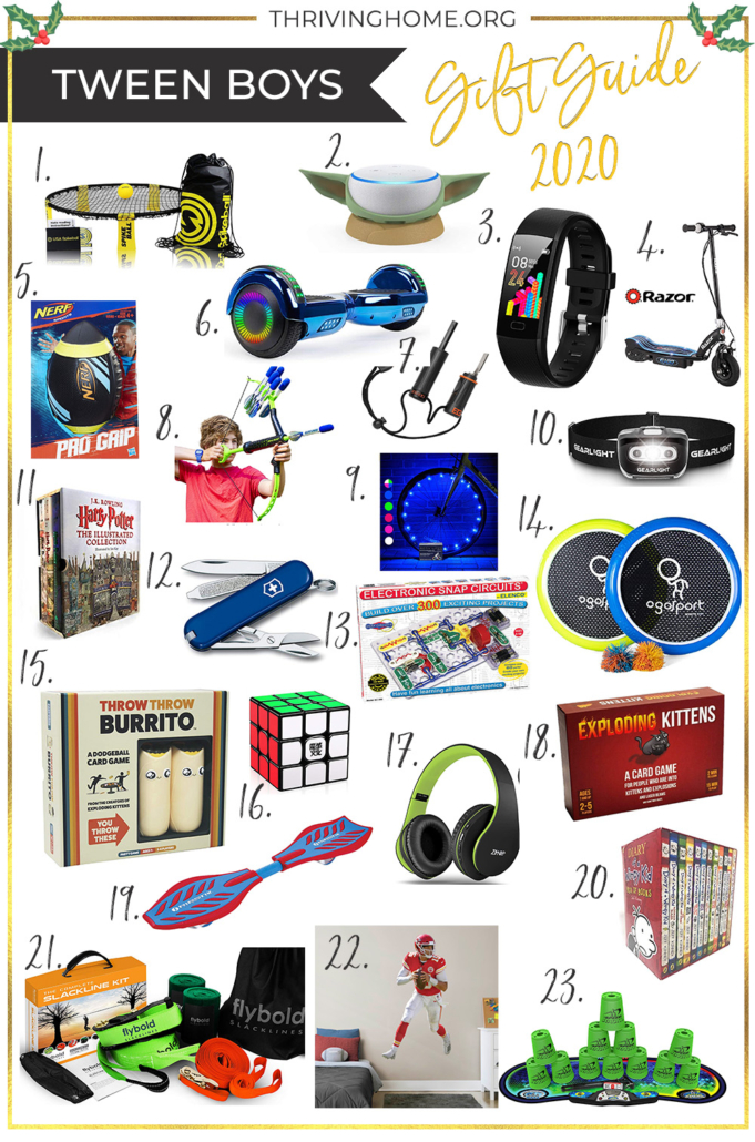 Gift guide for tween boys (ages 9-12)