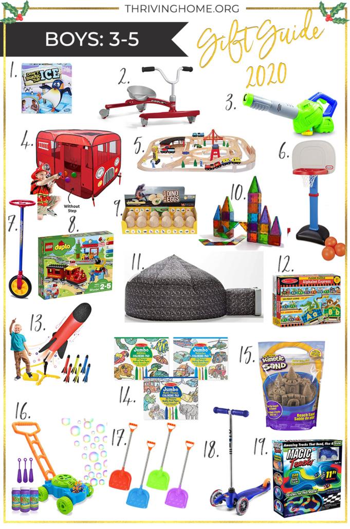 Gift ideas for preschool boys