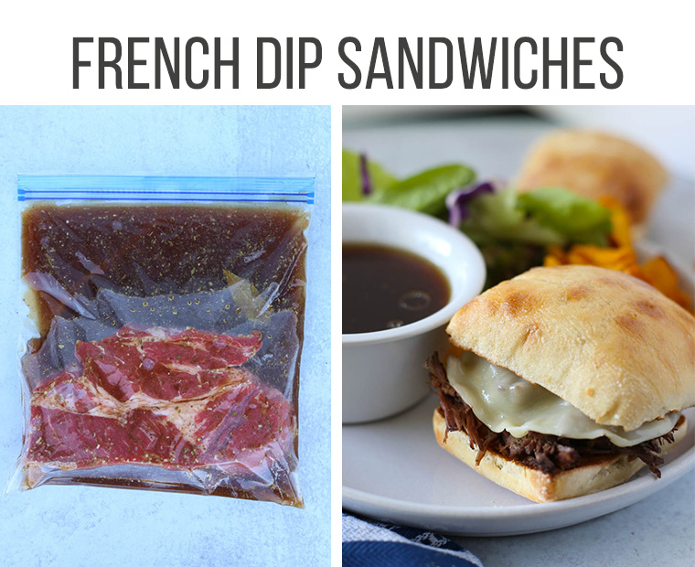 french dip sandwich freezer meal
