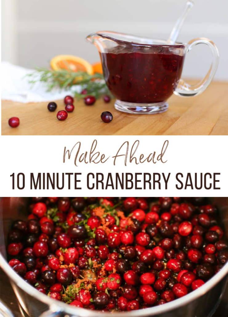Make Ahead Cranberry Sauce with orange zest and fresh cranberries
