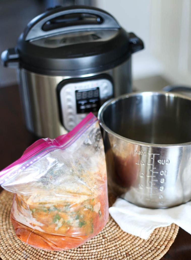 Frozen Instant Pot Vegetarian Tortilla Soup