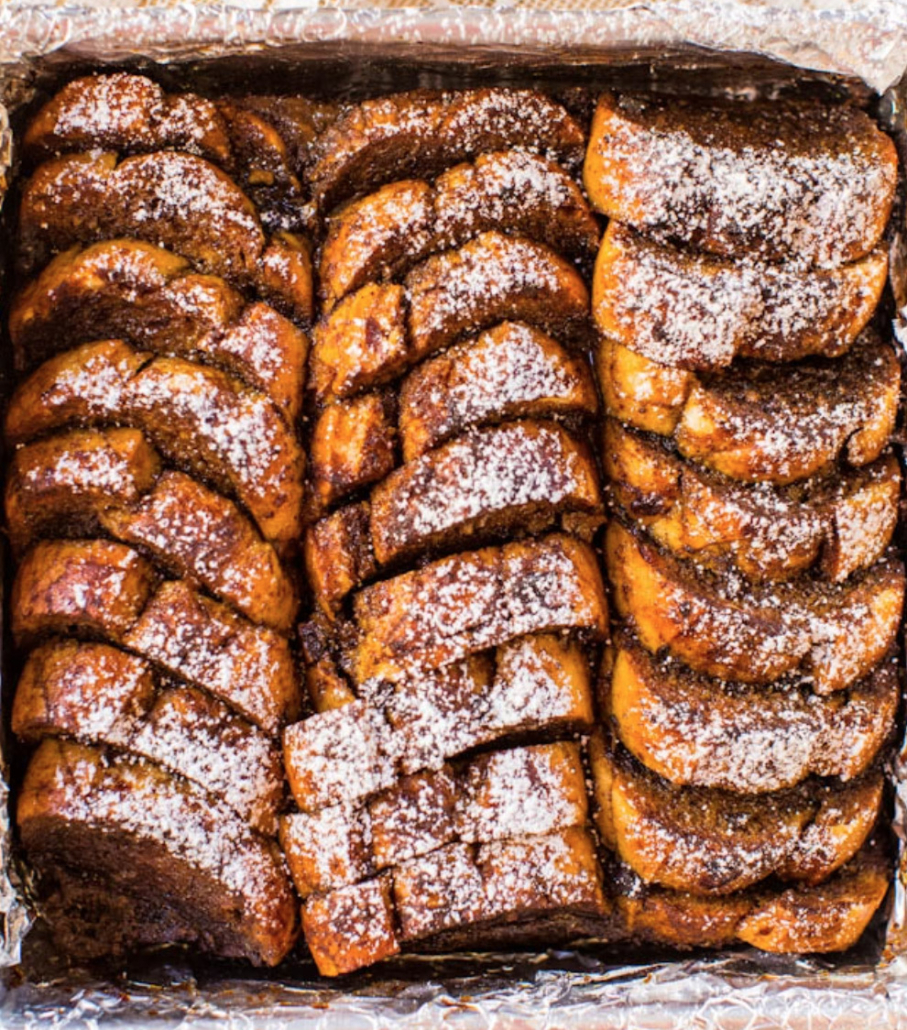 overnight gingerbread french toast breakfast bake