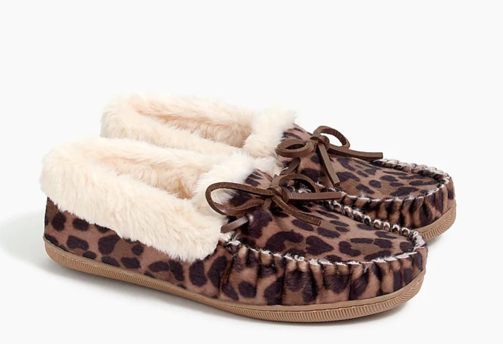 cheetah print slippers