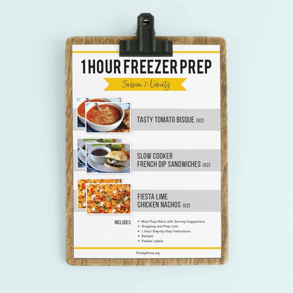 1 Hour freezer prep session