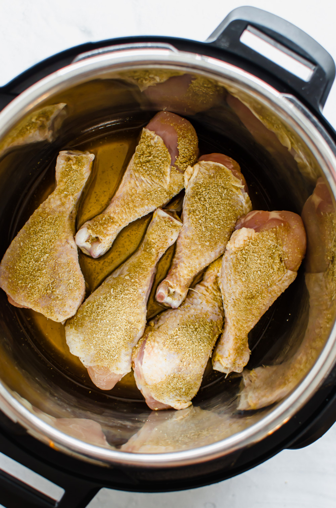 frozen seasoned chicken drumsticks in instant pot