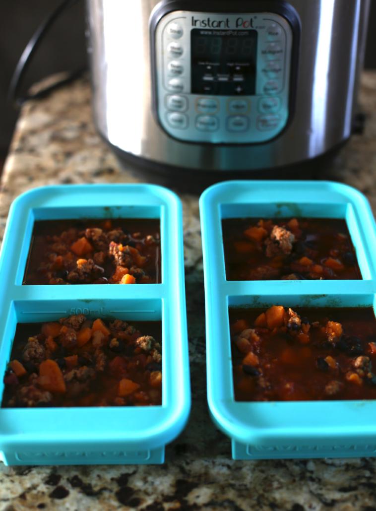 Instant Pot vegetarian soup in Souper Cubes