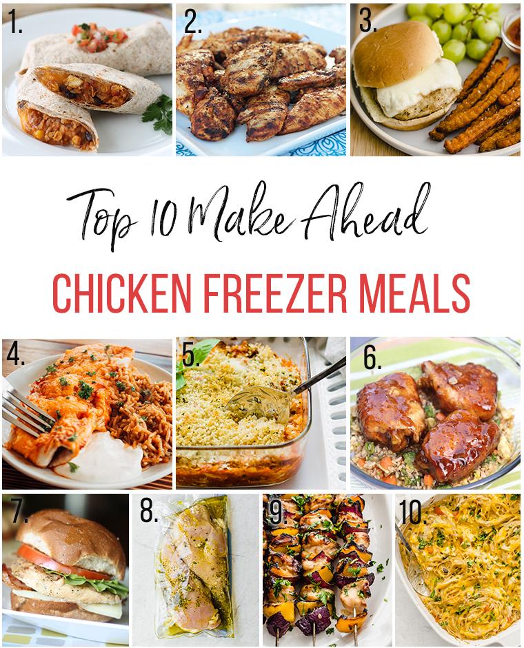 Top 10 Make Ahead Chicken Freezer Meals