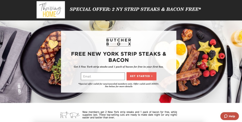 ButcherBox email box for special deal