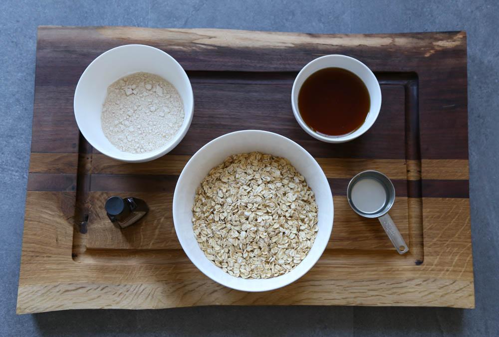 Ingredients for simple granola recipe