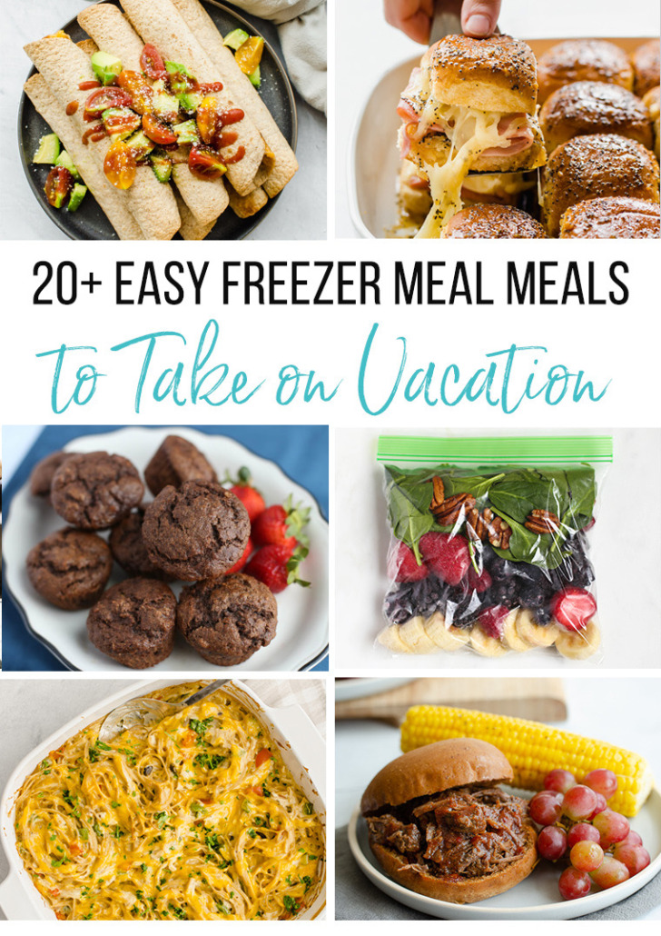 several freezer meals that work to take on vacation