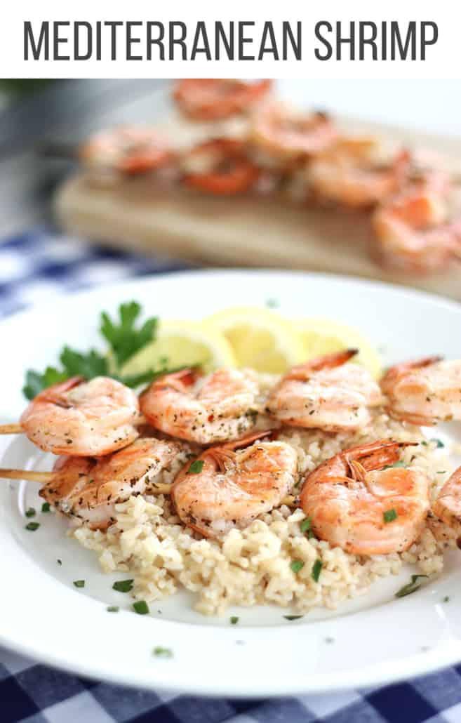 Mediterranean shrimp on skewers