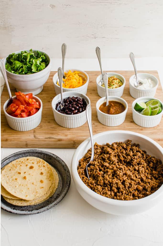 Taco Bar ingredients
