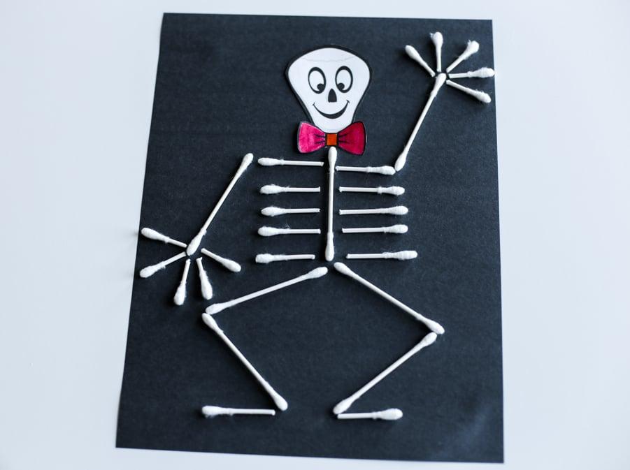 Q-tip skeleton waving